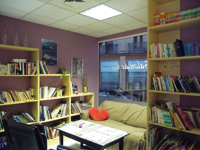 Le jac th entre salon de th branch et librairie bon - My place salon de the ...