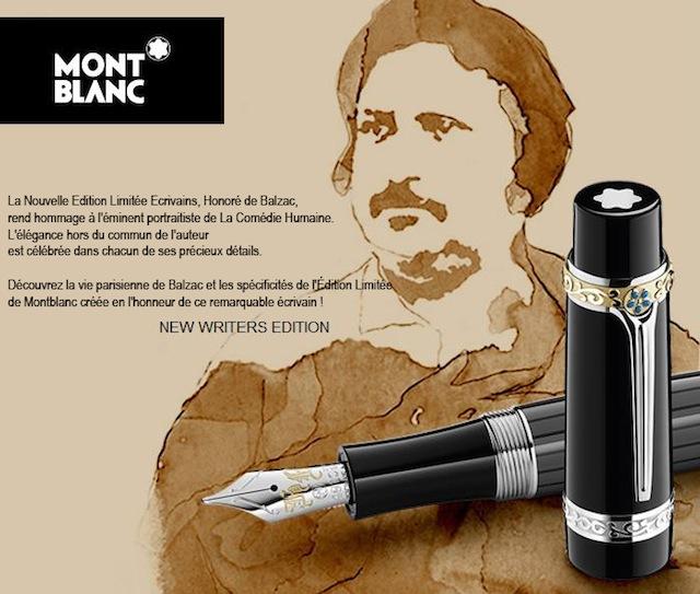 stylo mont blanc balzac