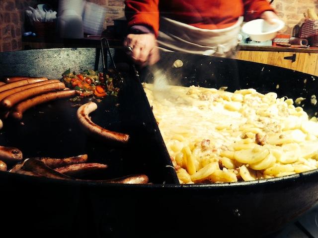 tartiflette saucisse marché de noel mulhouse