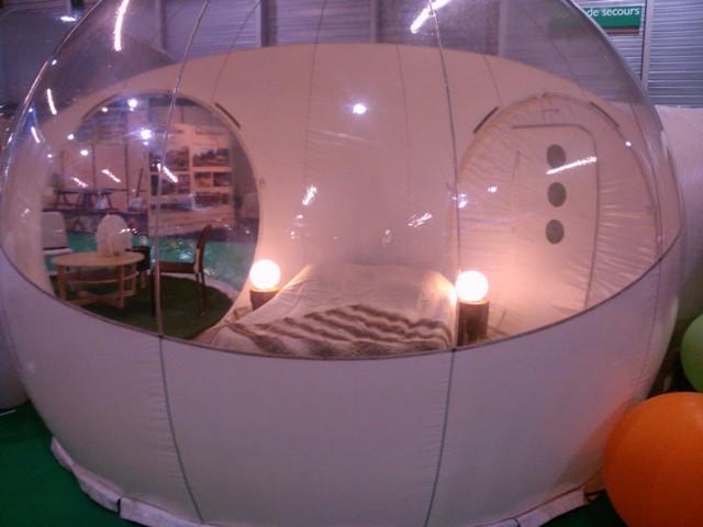 Après les petites dégustations, Festivitas vous donne envie de dormir dans une bulle... - © My-Mulhouse.fr