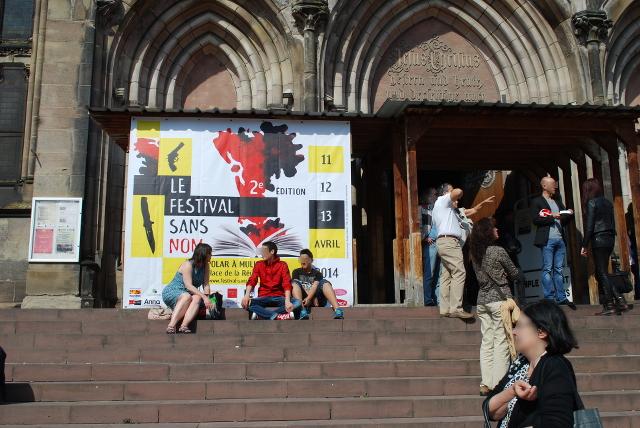 affiche du festival sans nom sur le temple saint etienne