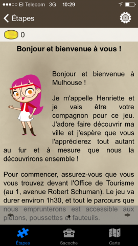 application iphone jeu de piste mulhouse