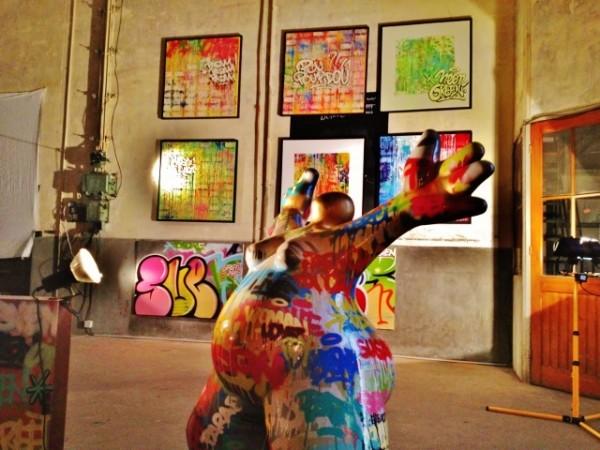 """Mon coup de coeur de l'expo: la sculpture """"L'optimiste"""" de Laurence Dréano revisitée par SVEN"""