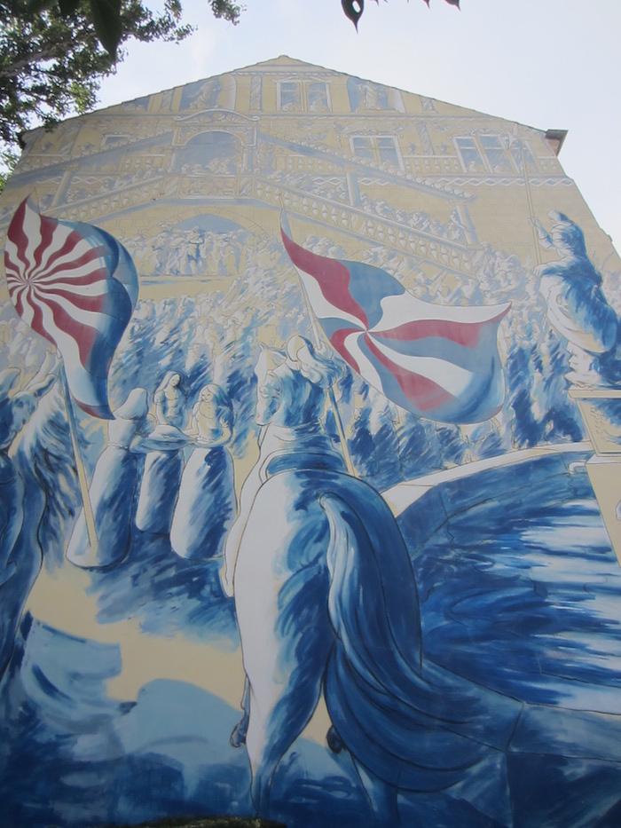 un mur peint à Mulhouse