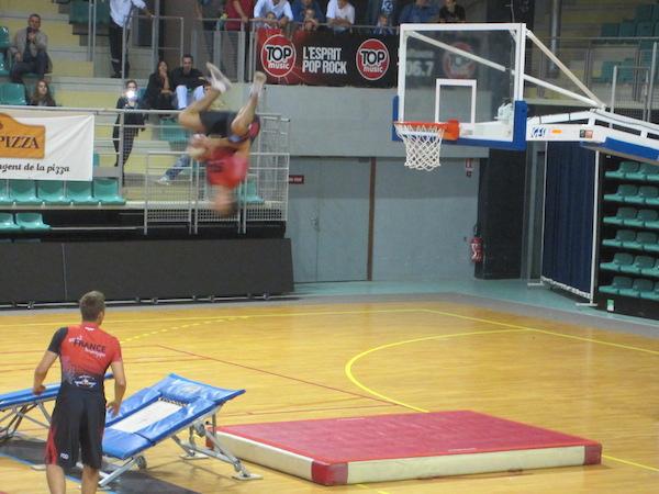 les flying dunkers lors de l'euro de basket à mulhouse