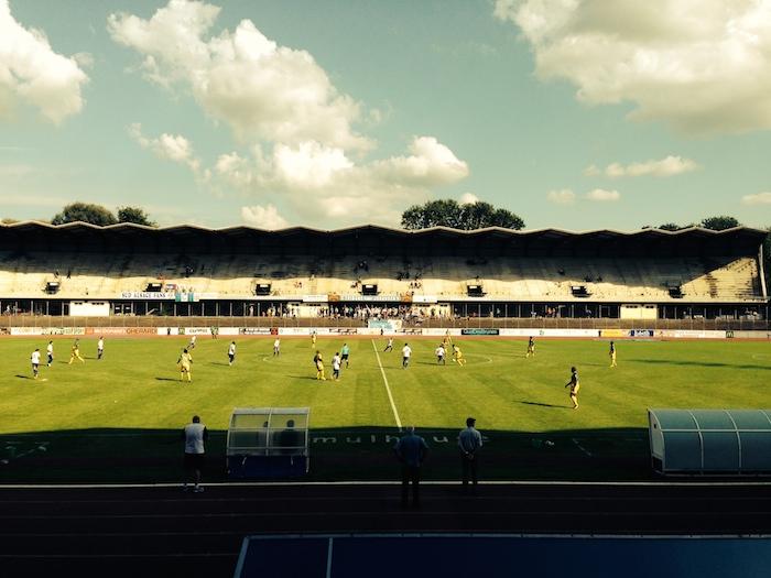 le stade de foot de l'illberg et le fcm