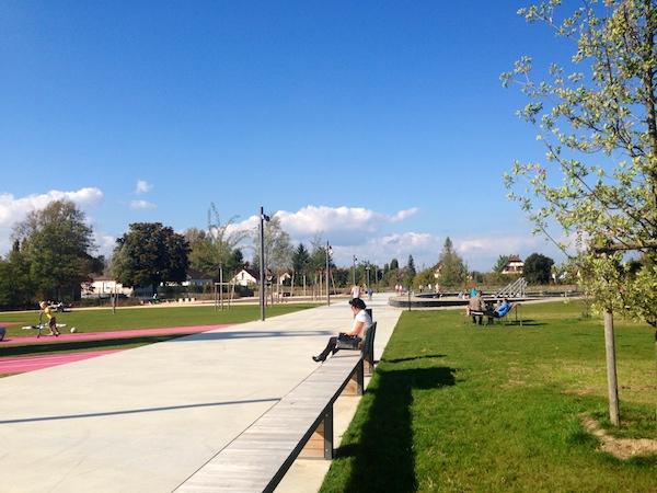 le beau temps au parc des gravieres de Kingersheim