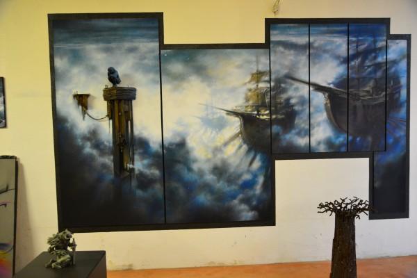 peinture et sculpture dans un atelier