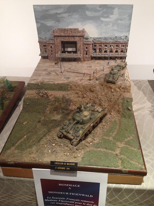 gare de mulhouse en 1944, maquette