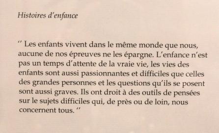 Quelques mots sur l'enfance... Très juste non ? - © My-Mulhouse.fr