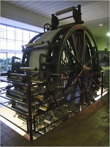 Une des machines à imprimer le papier peint - © My-Mulhouse.fr