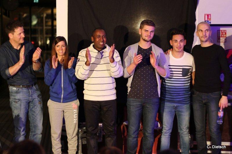 C'est la fin de la soirée, merci aux humoristes! ©Camille Dietsch pour My Mulhouse