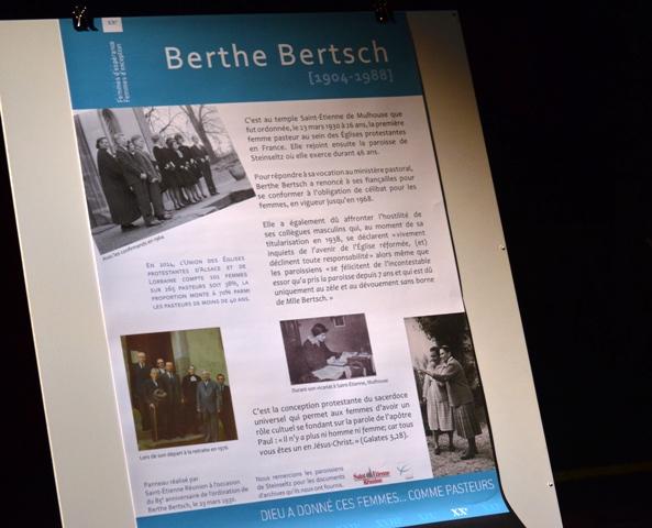 Berthe Bertsch mise à l'honneur au Temple Saint-Etienne - My-Mulhouse.fr