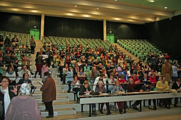 Les participants de la dictée solidaire du Rotary 2015
