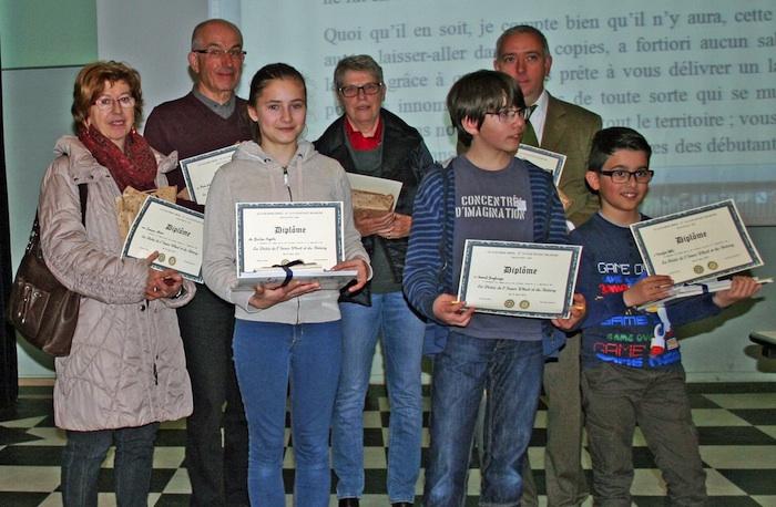 Les gagnants de la dictée solidaire du Rotary 2015