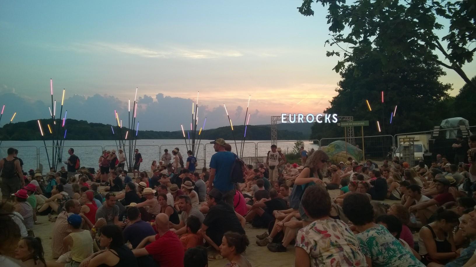 Beau coucher de soleil aux Eurockéennes 2015