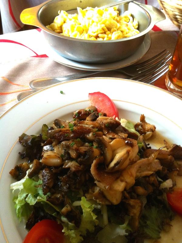 Champignons sur lit de salade à l'Aubergine -© My-Mulhouse.fr