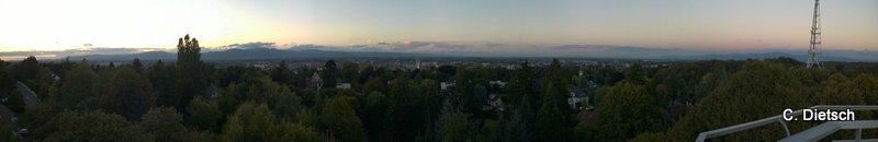 Sublime vue sur Mulhouse et sa région