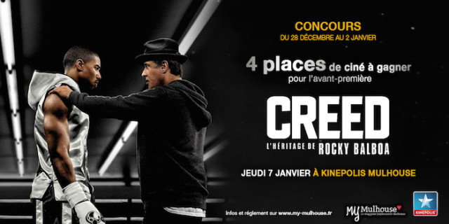 Gagnez vos places pour Creed le jeudi 7 janvier 2016 !