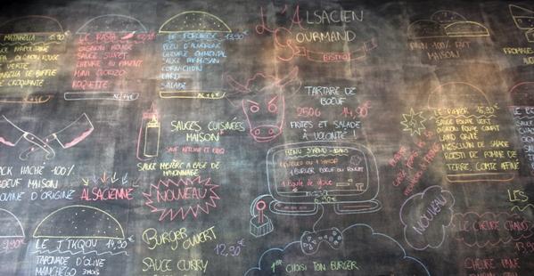 menus choix hamburgers
