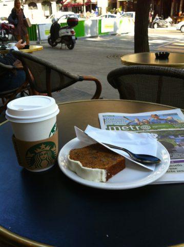 Une terrasse de Starbucks à Paris - © My-Mulhouse.fr