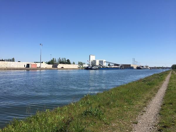 Peniche Canal Rhin Mulhouse Bâle