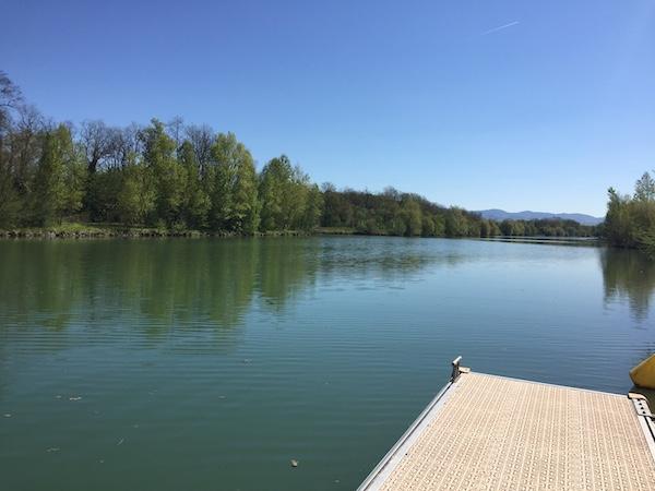 Ponton canal Mulhouse rhin
