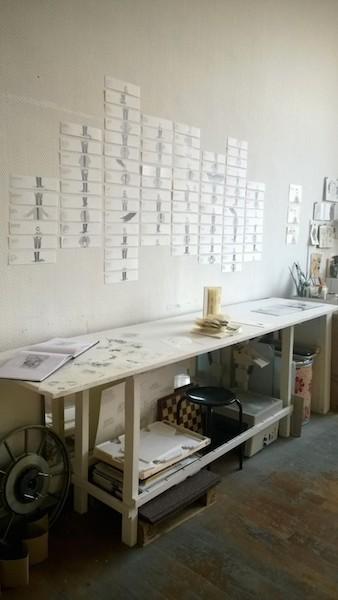 Une partie de l'atelier de Iva Sintic