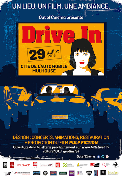 out of cinema affiche drive'in