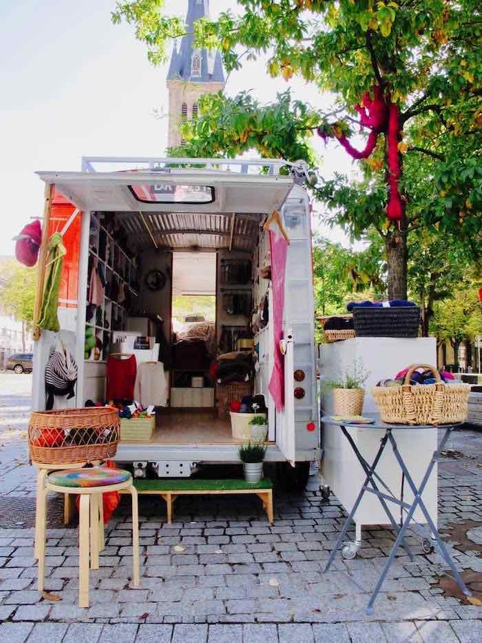 Une camionnette plutôt accueillante ! - © My-Mulhouse.fr