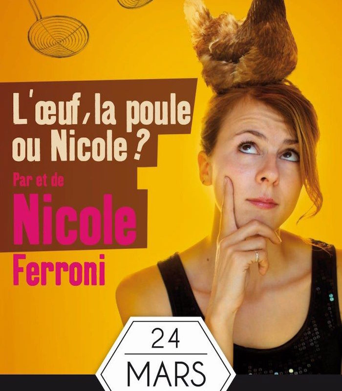 L'affiche du spectacle de Nicole Ferroni - © DR