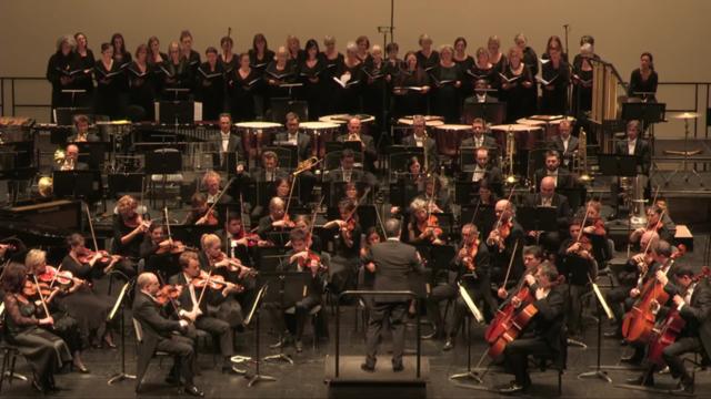 L'orchestre symphonique de Mulhouse au grand complet -© OSM